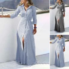 buttondowndres, Plus Size, long dress, button