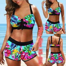 Bikinis Set, plus size bikinis, Bikini swimwear, asymmetric