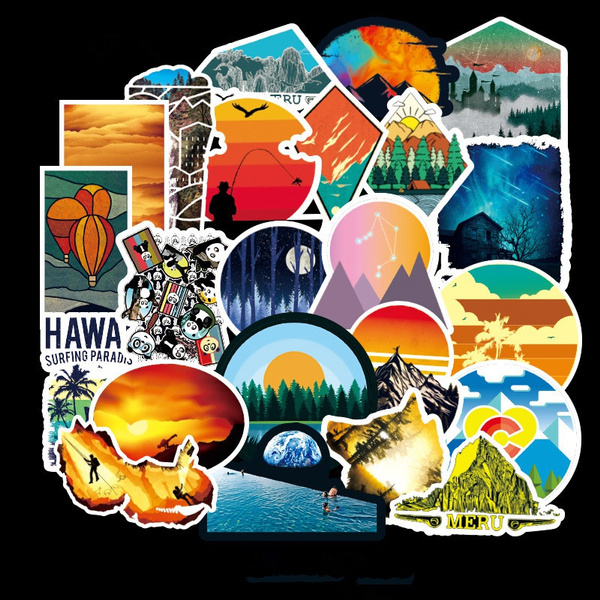Car Sticker, Outdoor, landscapesticker, Luggage