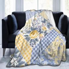 Fleece, Flowers, lights, Blanket