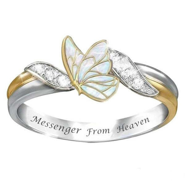 butterfly, Sterling, Fashion, letterring