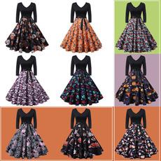 Swing dress, GOTHIC DRESS, Autumn Dress, chiffon dress