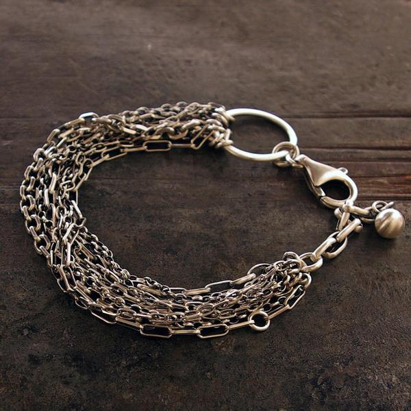 Sterling, Silver Bracelet, quartz, Jewelry