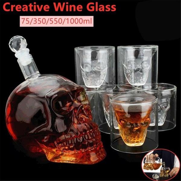 Goth, skull, Glass, vodka