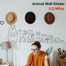 Decor, cartoonanimalsticker, Home Decor, animal print