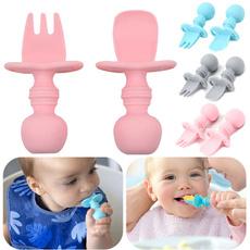 newbornfork, toddlerutensil, siliconecutlery, toddlespoon