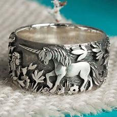 Sterling, Silver Jewelry, animalring, unicornring