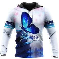 Blues, 3D hoodies, Fashion, butterfly