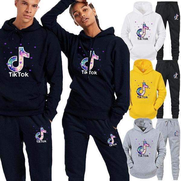 Fashion, pullover hoodie, clothingset, tiktok