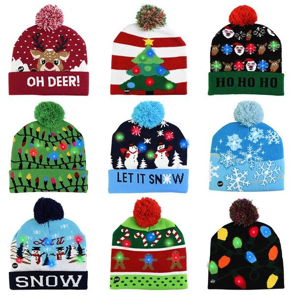 Beanie, Fashion, led, Christmas