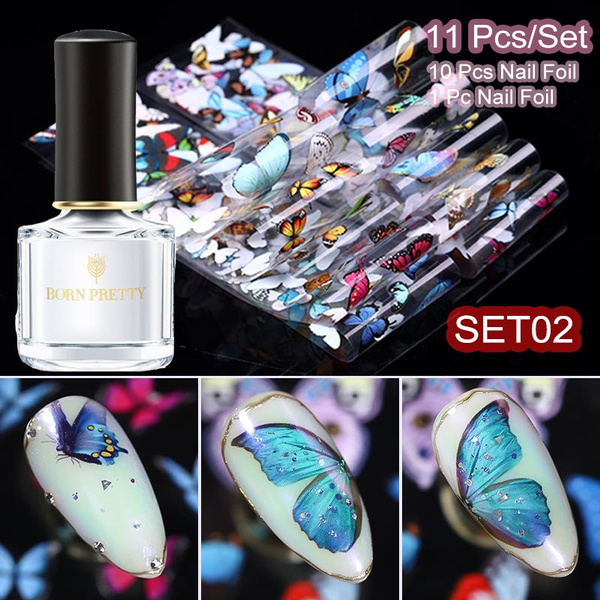 nail decoration, nail decals, Laser, transfersticker