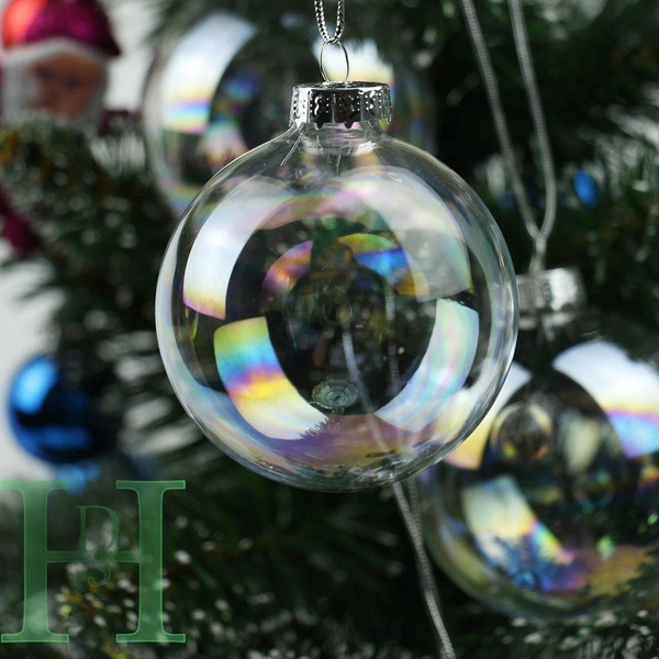 Ball, Christmas, Glass, Clear