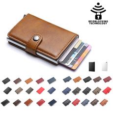 case, Credit Card Holder, Aluminum, leather