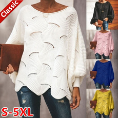 Women Sweater, Hollow-out, pullover sweater, Tops