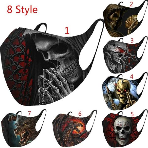 Goth, dustproofmask, Elastic, skull