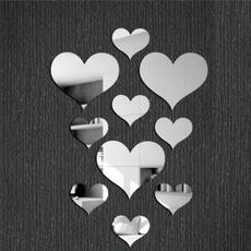 mirroreffectsticker, Heart, Love, acrylicmirrorwallsticker