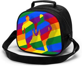 rainbow, School, childrenlunchbag, Totes