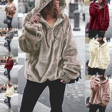 hooded sweater, hotstyle, plushjacket, pullover sweater
