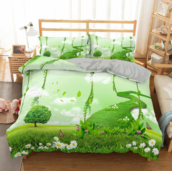 King, Bedding, Cover, greenlandscape