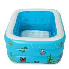 Summer, Bathing, Toy, Family