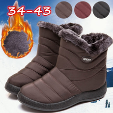 Plus Size, Winter, Waterproof, short boots