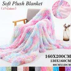 rainbow, fur, Cushions, Sofas