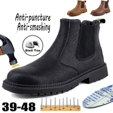 Steel, safetyshoe, Plus Size, Leather Boots