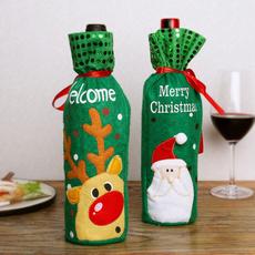 snowman, elk, winebottle, decoration