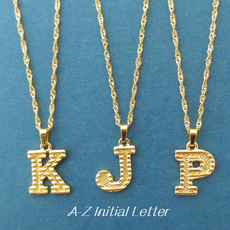 lettersnecklace, Jewelry, gold, letterneckace