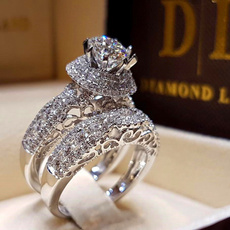 DIAMOND, Love, zirconring, Engagement Ring