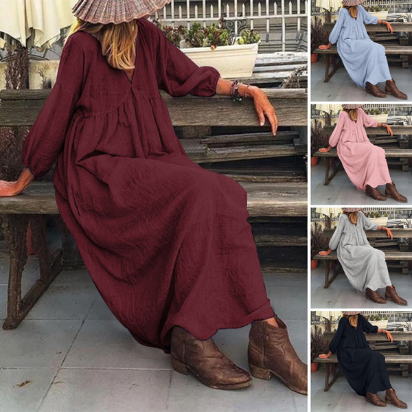 dressforwomen, Cotton, long sleeve dress, Sleeve