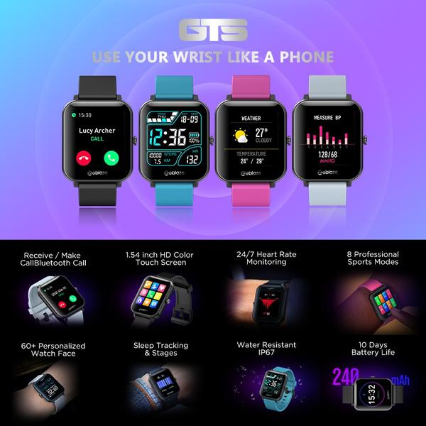 Zeblaze GTS Smart Watch Bluetooth Call IP67 Waterproof 1.54 inch IPS Screen  Heart Rate Monitor DIY Watchface | Wish