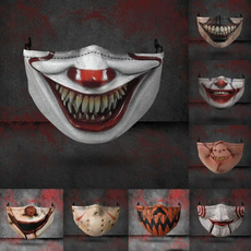 washable, Outdoor, graphicprintedmask, scary