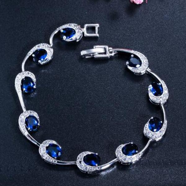 Charm Bracelet, weddingbracelet, sapphirebracelet, Gemstone