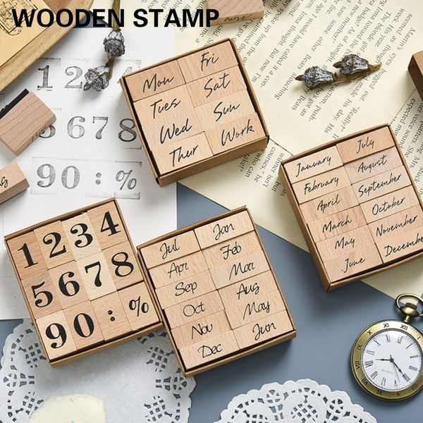 woodenstamp, Stamps, Tool, handledgerdecoration