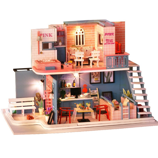 dollshousemodel, pink, Cafe, valentinesdaypresent