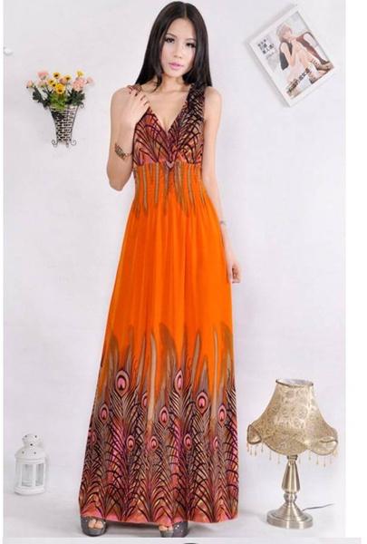 peacock, Hawaiian, sundress, Dresses