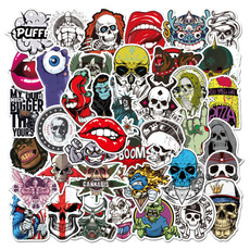 skullsticker, skull, Graffiti, Laptop