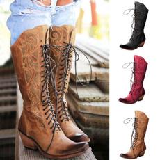 cowgirlboot, Lace, Women's Fashion, Lace Up
