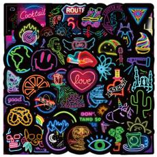Art Supplies, Motorcycle, Car Sticker, Neon