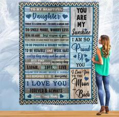 daughterblanketfrommom, tomydaughterblanket, Fleece, Throw Blanket