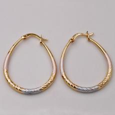 bighoopearring, pink, Hoop Earring, Jewelry