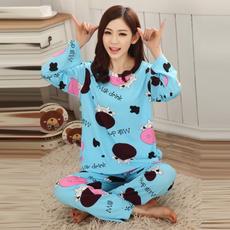 pajamaset, nightwear, Sleeve, Women Fashion