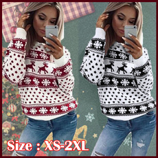 Fashion, printed, Christmas, Sleeve