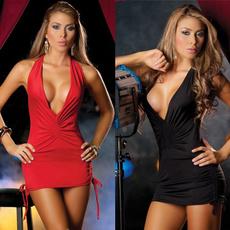 Deep V-Neck, Mini, Club Dress, Fashion