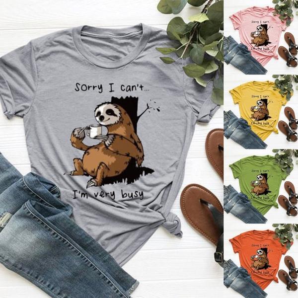 cuattshirt, slothtshirt, Graphic T-Shirt, letter print
