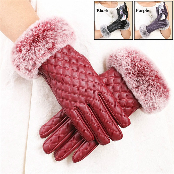 Touch Screen, Fashion, fur, leatherglovesforwomen