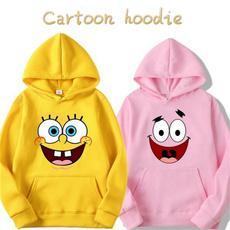 hoodiesformen, hoodies for women, cartoonprintedhoodie, Winter