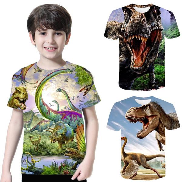 kids, Summer, Fashion, dinosaurtshirt