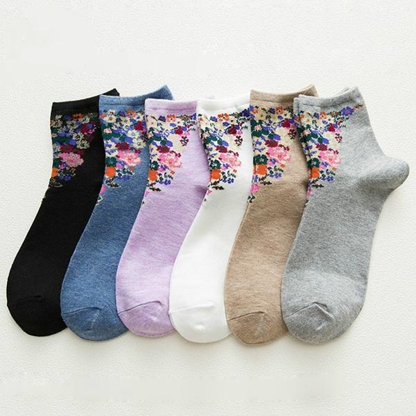 Woman, Vintage, Socks, Autumn